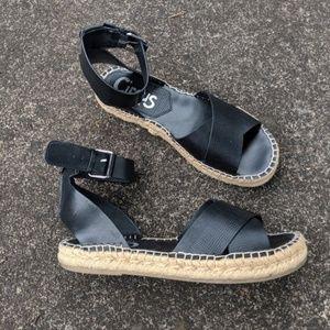 Sam Edelman Amber Black Espadrille Sandals
